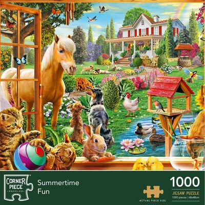 Summertime 1000 Piece Jigsaw Puzzle image number 1