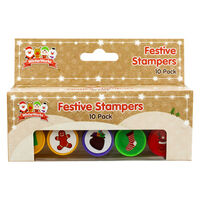 Christmas Stampers - Pack of 10