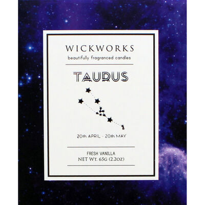 Zodiac Collection Taurus Fresh Vanilla Candle image number 3