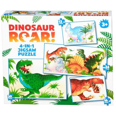 Dino Roar Puzzle 4 in 1 Puzzle Set image number 1