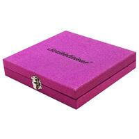 Purple Glitter Stationery Set