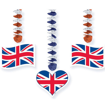 Union Jack Dangling Cut-Outs - Set of 3 image number 2