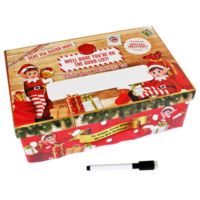 Personalise Christmas Elf Gift Box with Pen image number 1