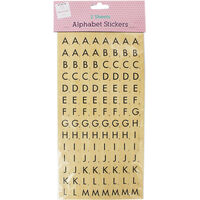 Alphabet Stickers: 2 Sheets
