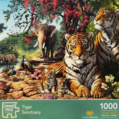 Tiger Sanctuary 1000 Piece Jigsaw Puzzle image number 1
