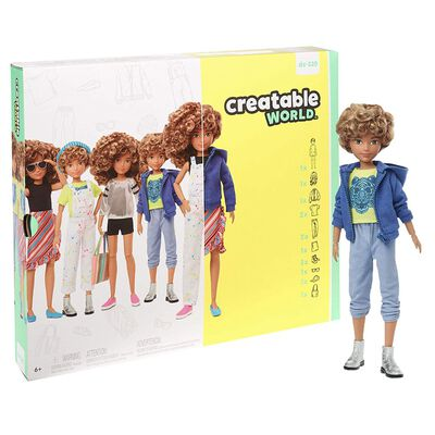 Creatable World Deluxe Character Kit: Blonde Curly Hair image number 1
