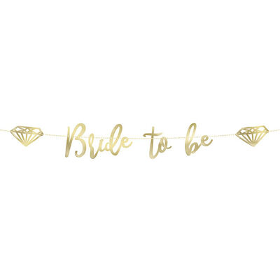 Gold Bride To Be Banner - 6ft image number 1