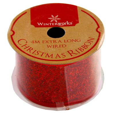 Assorted Red and Gold Christmas Ribbon - 4m image number 2