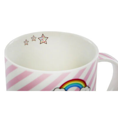 Disney Minnie Mouse Pink Stripe Ceramic Mug image number 3