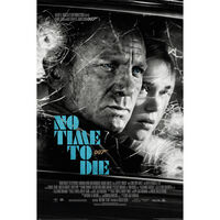 James Bond No Time To Die Noir Wall Poster