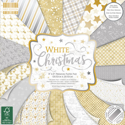 White Christmas Premium Paper Pad - 8x8 Inch image number 1