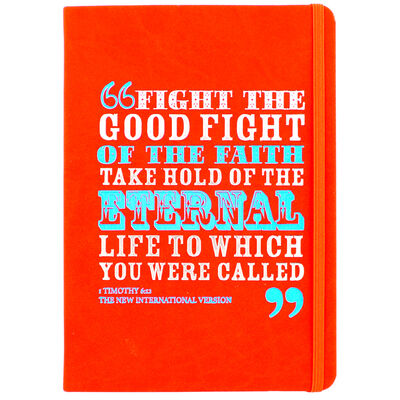 A5 Case Bound PU Fight the Good Fight Notebook image number 1