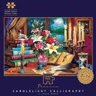 Candlelight Calligraphy 1000 Piece Gold-Foiled Premium Jigsaw Puzzle image number 1