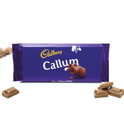 Cadbury Dairy Milk Chocolate Bar 110g - Callum image number 2