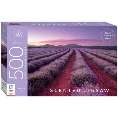 Lavender Fields 500 Piece Scented Jigsaw Puzzle image number 1