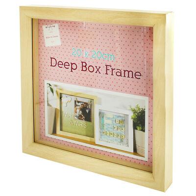 Natural Deep Box Frame - 20cm x 20cm image number 3