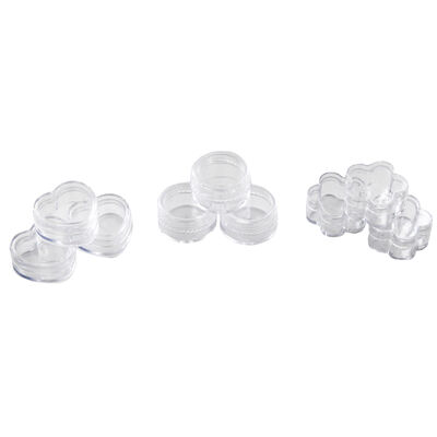 Plastic Craft Pots - 9 Pack image number 1