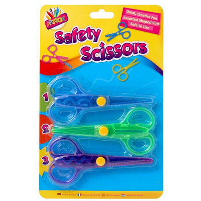 Kids' Safety Scissors: Pack of 3 image number 1