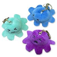 Reversible Octopus Plush Toy Keyring: Assorted