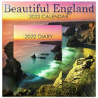 Beautiful England 2022 Square Calendar and Diary Set image number 1