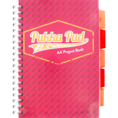 A4 Pink Pukka Pad Project Book image number 1