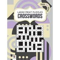 Large Print Puzzle Book: Crossword