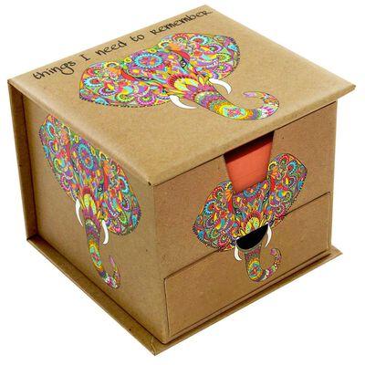 Rainbow Elephant Memo Cube image number 1