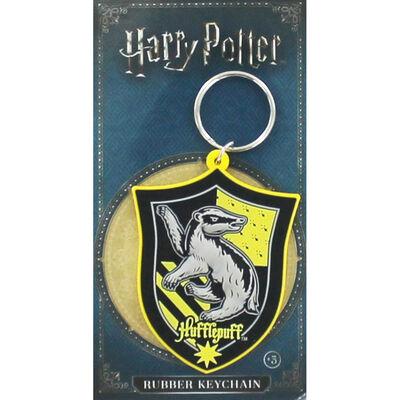 Harry Potter Rubber Keychain Hogwarts School Crest