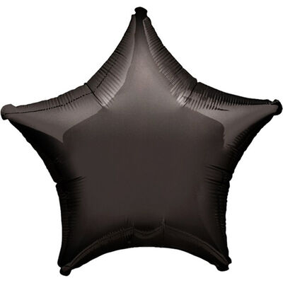 18 Inch Black Star Helium Balloon image number 1