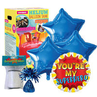 Father's Day Superhero Balloon & Unique Helium Canister Bundle