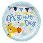 Blue Christening Day Paper Plates - 8 Pack image number 1