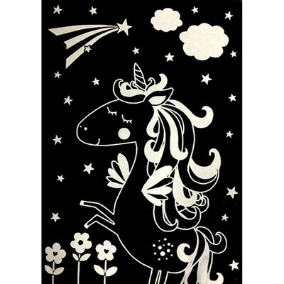 A4 Unicorn Scratch Art image number 2
