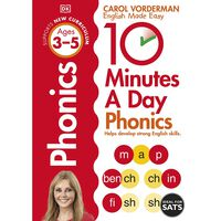 10 Minutes A Day Phonics: Ages 3-5