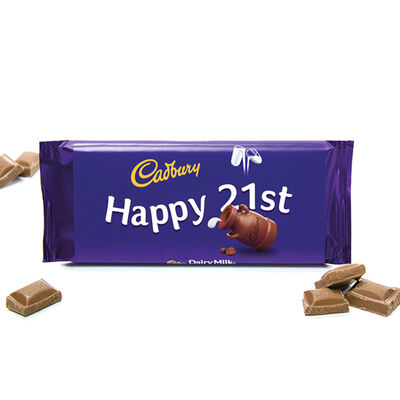 Cadbury Dairy Milk Chocolate Bar 110g - Happy 21st image number 2