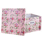 Light Pink Floral Collapsible Storage Box image number 2