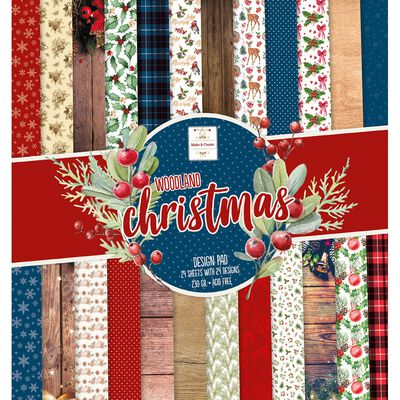Woodland Christmas Paper Pad 12 x 12 Inch image number 1