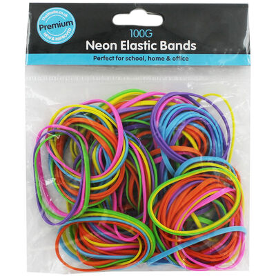 Assorted Neon Elastic Bands image number 1