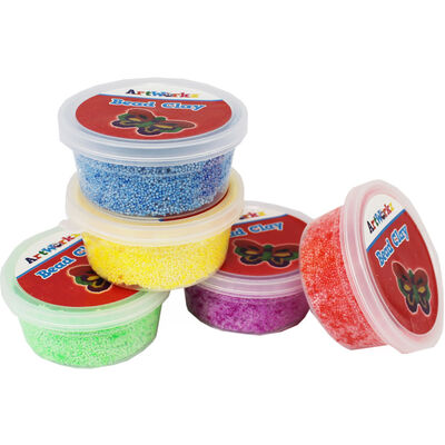 Assorted Bead Clay Tubs - Pack of 5 image number 2