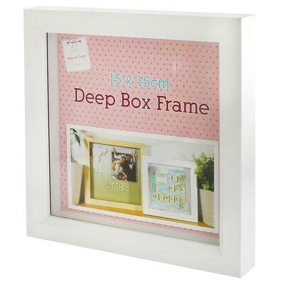 White Deep Box Frame - 15cm X 15cm image number 3