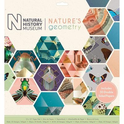 Natures Geometry Paper Pad 12x12 Inch image number 1