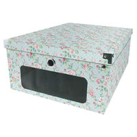 Vintage Floral Under Bed Storage Box
