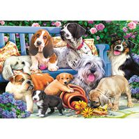Dogs in the Garden 1000 Piece Jigsaw Puzzle