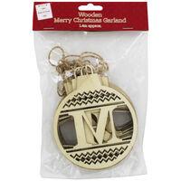 Wooden Merry Christmas Garland
