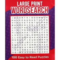 Classic Large Print Wordsearch: Purple
