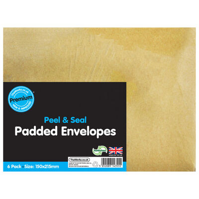 Small Bubble Lined Envelopes: Pack of 6 image number 1