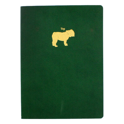 A5 Green Top Dog Motif Textured Journal image number 1