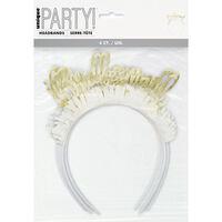 Gold Bridesmaid Headbands: Pack of 4