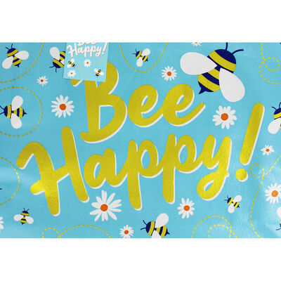 Bee Happy Giant Reusable Shopping Bag image number 3
