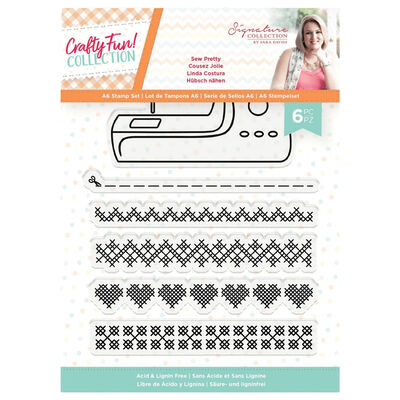 Sara Signature A6 Acrylic Stamp - Sew Pretty image number 1