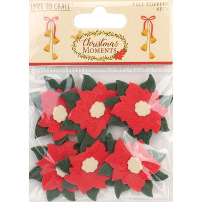 Christmas Moments Felt Toppers - 6 Pack image number 1